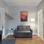 Ground Floor Room- Street View <br> 1 Double Bed